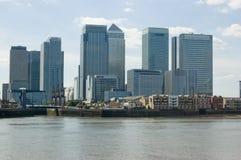 黄雀色港区greenw伦敦查看了码头 免版税库存照片