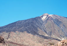 黄雀色el海岛西班牙teide tenerife火山 免版税库存照片