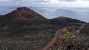 黄雀色la palma teneguia火山 库存图片