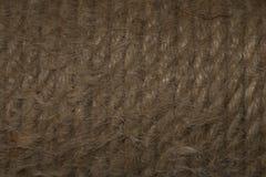 黄麻绳索丝球纹理 库存图片