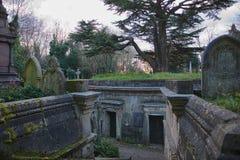 黎巴嫩圈子西部Highgate公墓 库存照片