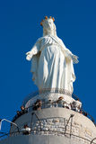 黎巴嫩夫人我们的雕象 免版税库存图片
