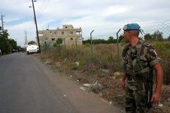 黎巴嫩战士联合国 免版税库存图片