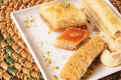 黎巴嫩甜点 免版税库存图片