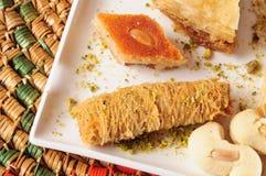 黎巴嫩甜点 库存照片