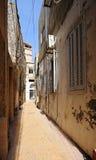 黎巴嫩缩小的老街道城镇轮胎 图库摄影