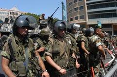 黎巴嫩警察暴乱 图库摄影