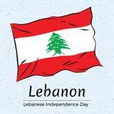 黎巴嫩 黎巴嫩独立日贺卡 库存照片