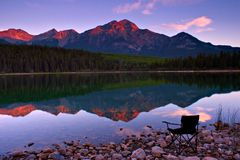 黎明前视图 图库摄影