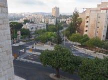 黎明在街市耶路撒冷以色列 库存照片