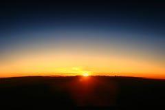 黎明地球上升 库存照片