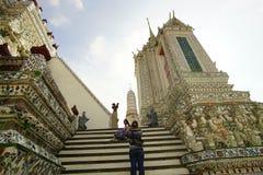 黎明寺寺庙,曼谷泰国 免版税库存照片