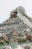 黎明寺细节,曼谷泰国 免版税库存照片