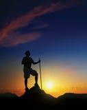 黎明山顶 免版税图库摄影