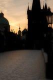黎明布拉格 免版税库存照片
