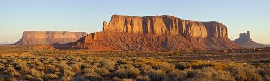 黎明平面的mesas 库存照片
