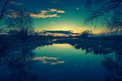 黎明湖 库存照片