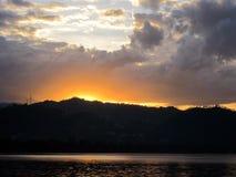 黎明焕发在基伏湖的 图库摄影