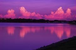 黎明紫色 库存照片