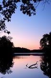 黎明老鹰湖 库存图片
