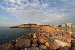 黎明la码头pineda 库存图片