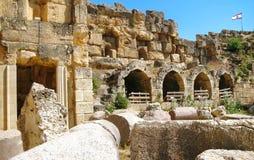 黎巴嫩的古老罗马结构 库存图片