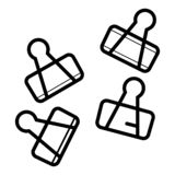 黏合剂夹子导航 向量例证