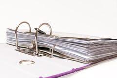 黏合剂文件夹办公室 免版税库存图片