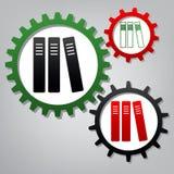 黏合剂行,办公室文件夹象 向量 三被连接的gea 库存例证