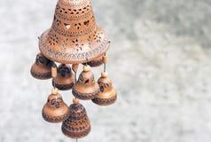 黏土做的钟声东门铃展出品对象股票 免版税库存照片