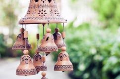 黏土做的钟声东门铃展出品对象股票 图库摄影