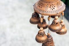 黏土做的钟声东门铃展出品对象股票 库存照片