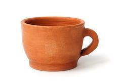 黏土杯子 免版税库存照片