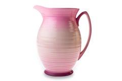 黏土查出水罐粉红色 免版税库存照片