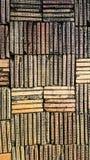 黏土砖墙对称  免版税库存照片