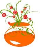 黏土花卉罐 库存照片