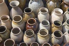 黏土花瓶 中国 免版税库存图片