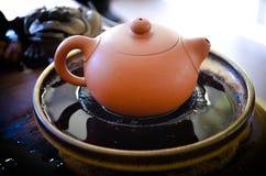 黏土茶罐 免版税库存图片