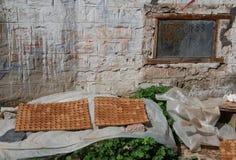 黏土菩萨在西藏 库存图片