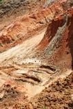 黏土陆运被折磨的纹理 免版税库存图片