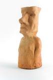 黏土moai设计 图库摄影