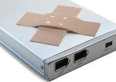 黏着性光盘困难plastrer便携式 免版税库存照片