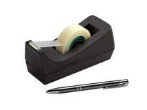 黏着性分配器笔磁带 库存照片
