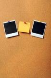 黏着性笔记本拍摄葡萄酒 免版税库存照片