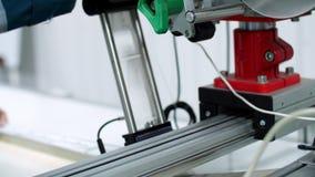 黏附标记器传动机的片段  行业抽象背景 影视素材