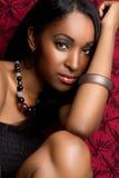 黑人俏丽的妇女 库存照片