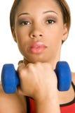 黑人健身妇女 免版税库存照片