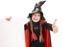 黑人儿童服装女孩略图巫婆 图库摄影