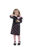 黑人儿童礼服女孩相当一点 免版税库存照片