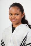 黑人女孩愉快的纵向学校工作室年轻&# 库存照片